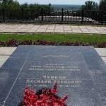Согласно составленному маршалом завещанию он был похоронен в Волгограде на знаменитом Мамаевом кургане у подножья величественного монумента «Родина-мать».