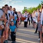 «Свечи Памяти» зажглись в городе Волжский Волгоградской области 22 июня в 4 утра у монумента павшим воинам.  Автор фото: Петр Макаров